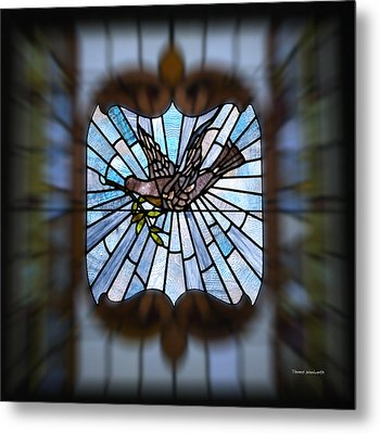 Stained Glass Lc 13 Metal Print by Thomas Woolworth