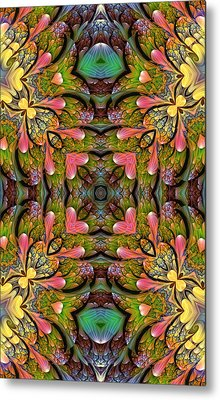 Metal Print featuring the digital art Stained Glass by Lea Wiggins
