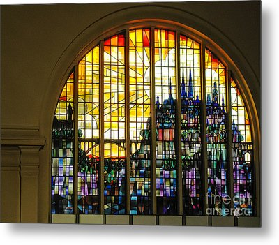Stained Glass Luxembourg Metal Print