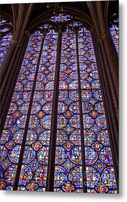 Stained Glass Magnificence Metal Print by Ann Horn