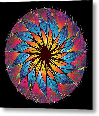 Stained Glass Metal Print by Robert Conway