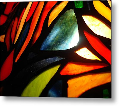 Stained Glass Seven Metal Print