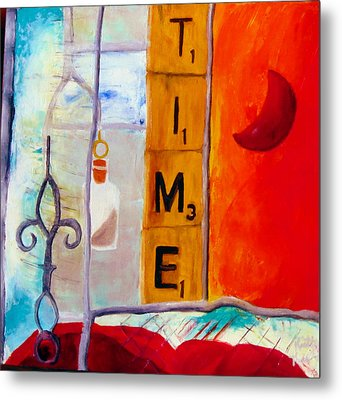 Stained Glass Time Metal Print