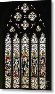 Stained-glass Window 1 Metal Print by Susie Peek