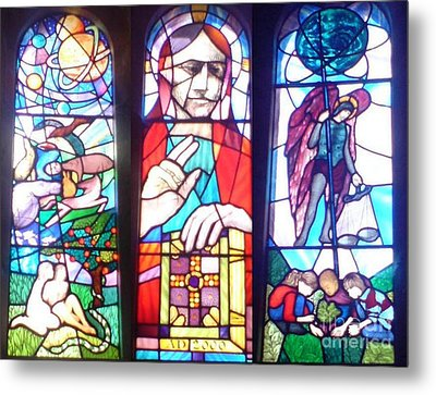 Metal Print featuring the photograph Stained Glass Window by John Williams