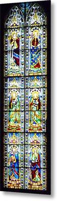 Stained Glass Window Of Duomo Santa Maria Del Fiore Metal Print