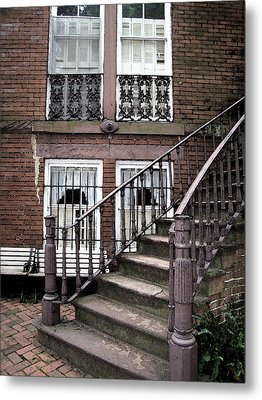 Staircase And Shutters Metal Print by Linda Ryan