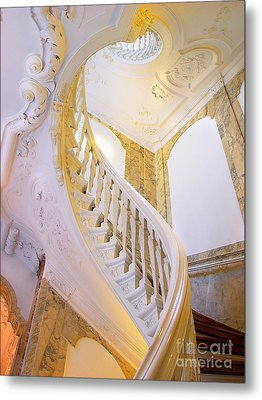 Metal Print featuring the photograph Staircase In Wood by Michael Edwards