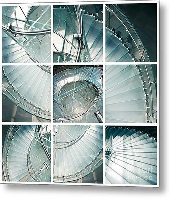 Staircase Jigsaw Metal Print