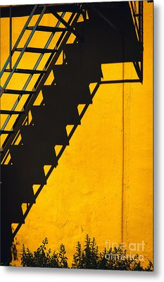 Metal Print featuring the photograph Staircase Shadow by Silvia Ganora