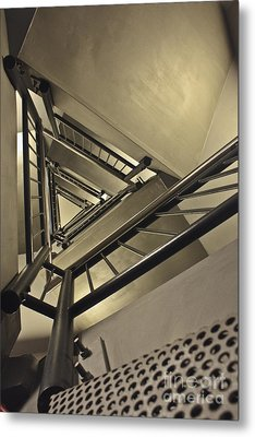 Metal Print featuring the photograph Stairing Up The Spinnaker Tower by Terri Waters