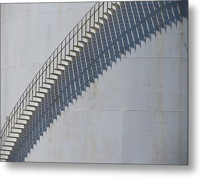Stairs And Shadows 3 Metal Print by Anita Burgermeister