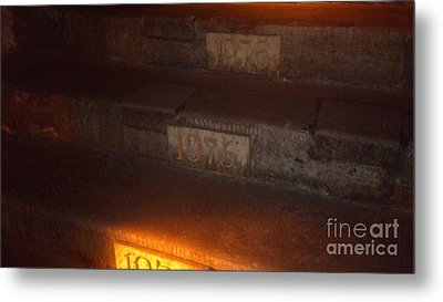 Stairs In Reims Metal Print