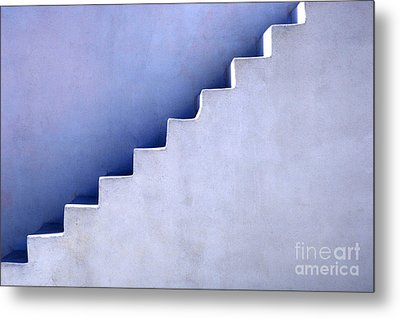 Stairs In Santorini Metal Print by Bob Christopher