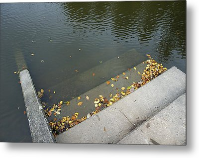 Stairs Leading Into Water Metal Print by Matthias Hauser