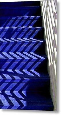 Stairs Of Blue Metal Print