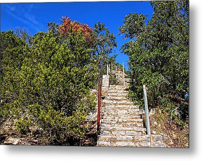 Stairs To Mount Baldy  Metal Print by Judy Vincent