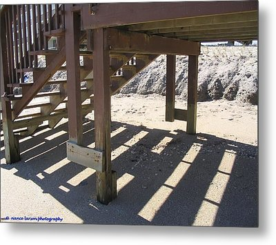 Stairs To The Beach Metal Print by Nance Larson