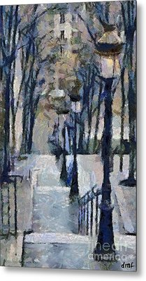 Stairs With Lamps Metal Print by Dragica  Micki Fortuna