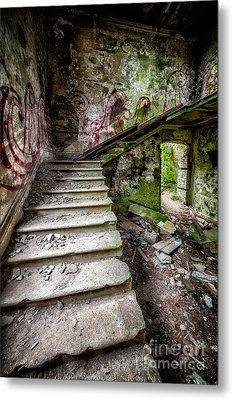 Stairway Graffiti Metal Print