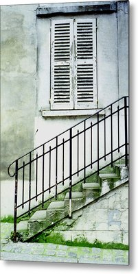 Metal Print featuring the photograph Stairway In Paris by Mary Bedy