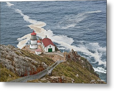 Metal Print featuring the photograph Stairway Leading To Point Reyes Lighthouse by Jeff Goulden