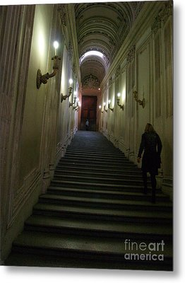 Metal Print featuring the photograph Stairway  by Robin Maria Pedrero