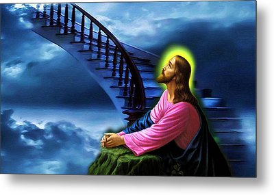 Stairway To Heaven Metal Print by Karen Showell
