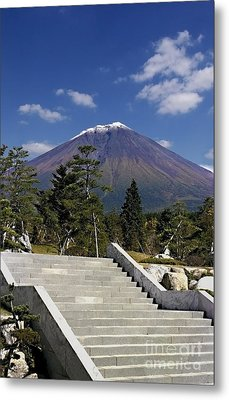 Metal Print featuring the photograph Stairway To Mt Fuji by Ellen Cotton