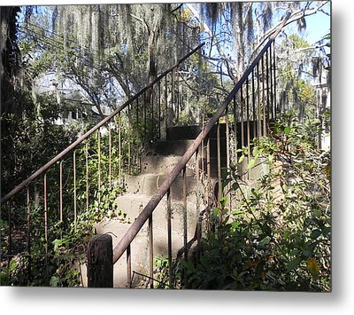 Stairway To Nowhere Metal Print by Patricia Greer
