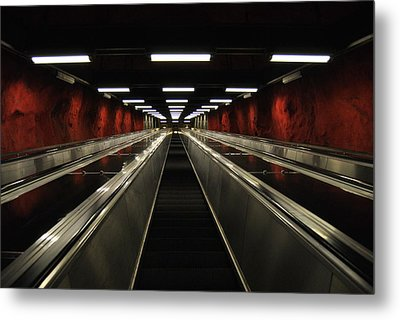 Stairway To Red Metal Print by Frederico Borges