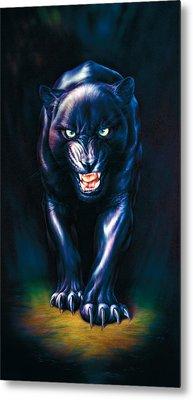 Stalking Panther Metal Print