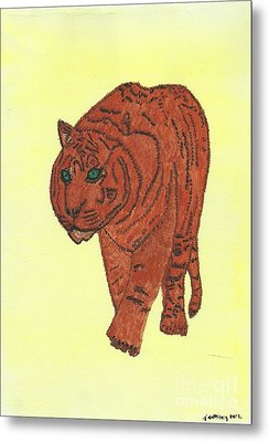 Stalking Tiger Metal Print by Tracey Williams