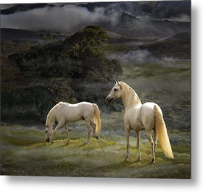 Stallions Of The Gods Metal Print by Melinda Hughes-Berland