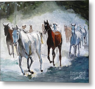 Metal Print featuring the painting Stampede by Judy Kay