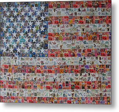 Stamps And Stripes Renegade Colony Metal Print by Gary Hogben