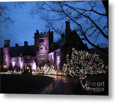 Stan Hywet Hall And Gardens Christmas  Metal Print by Joan  Minchak