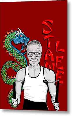 Stan Lee Metal Print by Gary Niles