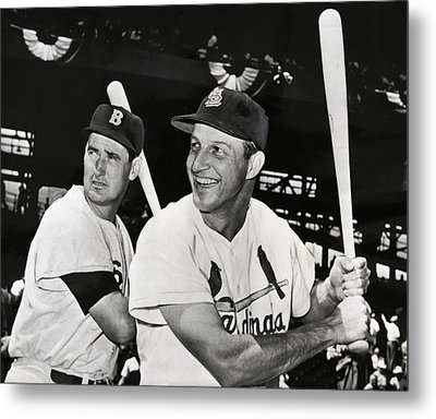 Stan Musial And Ted Williams Metal Print by Daniel Hagerman