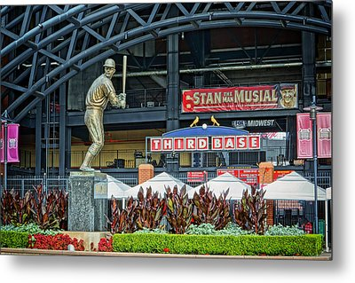 Stan Musial Statue At Busch Stadium St Louis Mo Metal Print by Greg Kluempers
