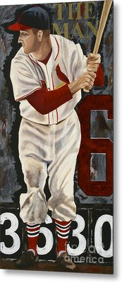 Stan Musial Metal Print by Terry  Hester