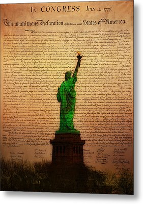 Stand Up For Freedom Metal Print by Bill Cannon