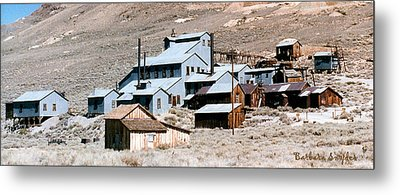 Standard Mill At Bodie Panorama Metal Print by Barbara Snyder