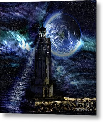 Metal Print featuring the digital art Standing Guard by Shirley Mangini