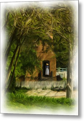 Standing In The Doorway Metal Print