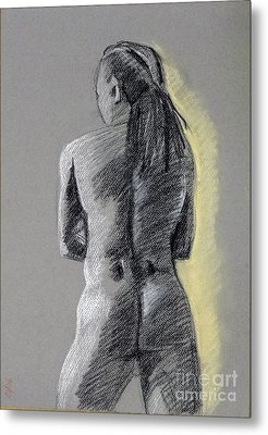Standing Male Back Metal Print