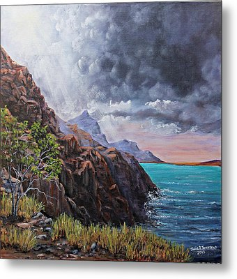 Standing On The Solid Rock Metal Print by Julie Townsend
