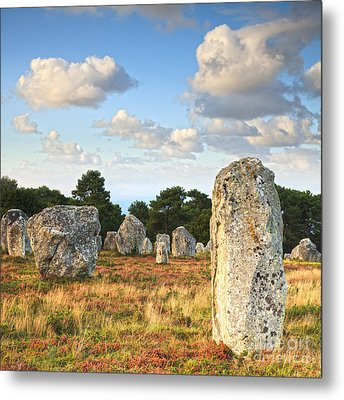 Standing Stones Carnac Brittany Metal Print by Colin and Linda McKie