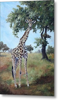 Metal Print featuring the painting Standing Tall by Brenda Thour