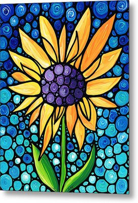 Standing Tall - Sunflower Art By Sharon Cummings Metal Print by Sharon Cummings
